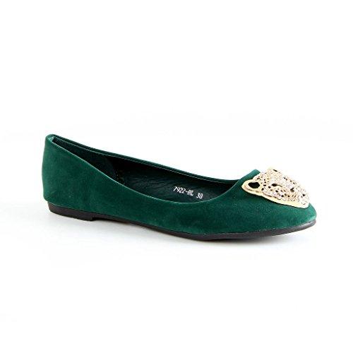 Nouvelles Ballerines Vert Marque Pour Femmes Vert De Pantoufles Chaussures Chaussures YxqwPprY