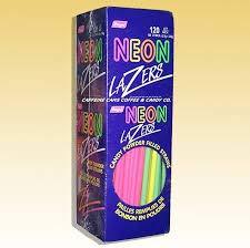 Neon Lazers Candy Powder Filled Straws