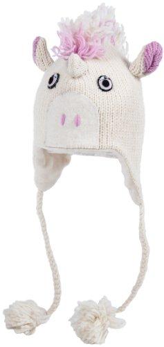 Nirvanna Designs CHUNICRN Unicorn Hat with Fleece, White/Pin