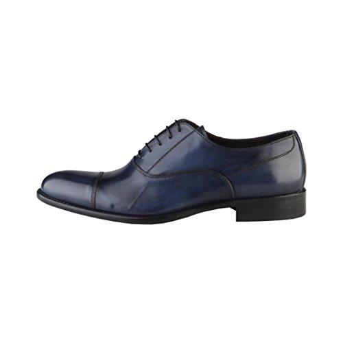Made In Italy Herren Camillo Italian Leder Oxford Schuhe Schwarz