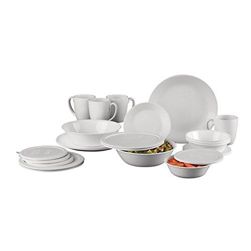 World Kitchen Corelle Serve and Save 24 Piece Dinnerware Set