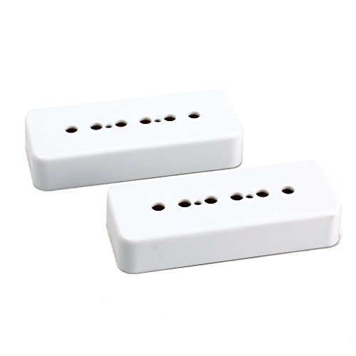 (2pcs White Plastic P90 Soapbar Cover Humbucker Pickup Covers 50/52mm For Gibson Les Paul Electric Guitar)