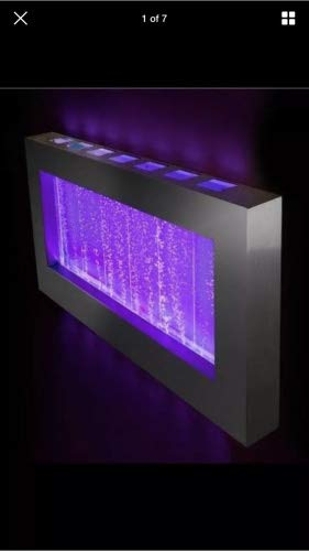 Jersey Home Decor Wall Bubble Panel 39'' Wide x 22'' Wall Fountain, Color Lights Remote Ctrl Sale by Jersey Home Decor