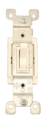 mp, 120 Volt, Toggle Framed 3-Way AC Quiet Switch, Residential Grade, Grounding, Quickwire Push-In & Side Wired, White ()