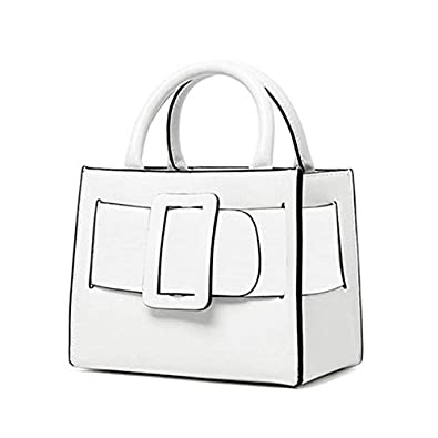 chic belt women genuine leather handbags designer female shoulder bags high  quality messenger bags luxury purse 2018 White Cute Small Size  Amazon.in   Shoes ... 2fbd1414d2e58