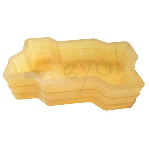 Reyal Mould and Concrete Spacers 60 mm Thickness PVC Rubber Zigzag Paver Mould Price & Reviews