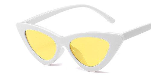 Blanco Vintage Uv C10 White Gafas Matices Gato Yellow Ojo Gafas Amarillo Gafas De Sol Diseño Hembra Gafas Sexy De De Mujer Mal TIANLIANG04 De Sol C10 U1wzqFF
