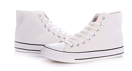 Sfnld Herenmode Lente Herfst Klassieke Hoge Top Canvas Schoenen Sneaker White1