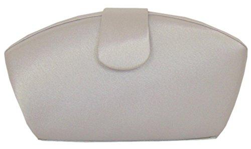 Damen Abendtasche , Handtasche Partytasche Clutch Tasche Silber