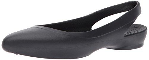 Sling Crocs (Crocs Women's Eve Slingback W Ballet Flat,Black,9 M US)