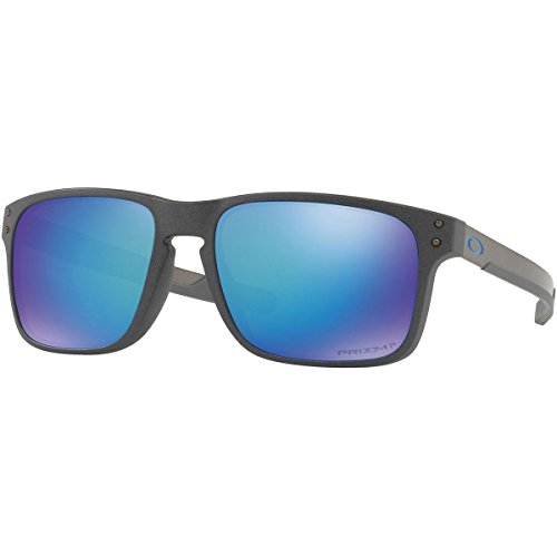 Oakley Men's Holbrook Mix Polarized Sunglasses,OS,Steel/Prizm - Holbrook Grey Polarized Oakley Lenses