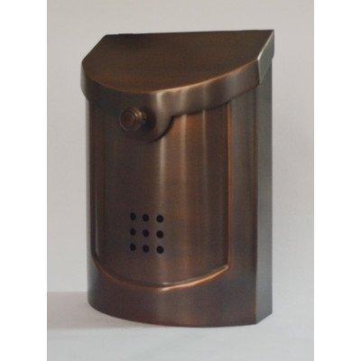 Ecco E5 Wall Mounted Mailbox, Antique Copper Plated, Small by ECCO - Small Copper Mailbox