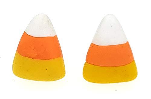 SAE99 Candy Corn Polymer Clay Dangle Earrings