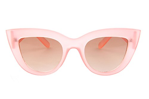 [SojoS Fashion Classic Celebrity Bold Thick Womens Ladies Cat Eye Sunglasses SJ2939 With Pink Frame/Brown] (60s Mod Girl Costumes)