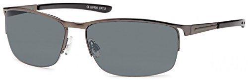 Sonnenbrillen Elegantebrille Sonnenbrille Retro Aviator Flieger New Wayfarer B473, Rahmenfarbe:Schwarz