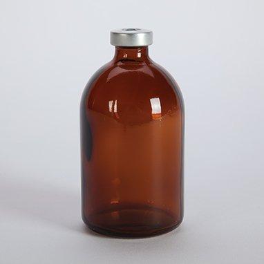 Divine Medical Sterile Empty Vials, Amber, 100mL