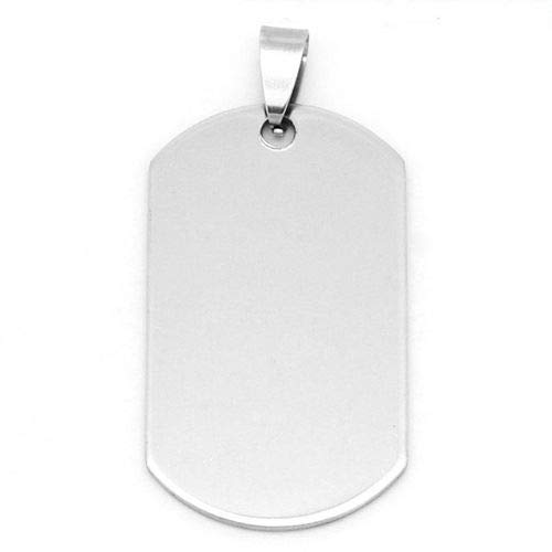 (Milleona Dogtag Stainless Steel 41mm Rectangular Dog Tag Pendant ID-715)