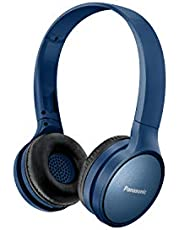 Panasonic RP-HF410BE-A Athleisure Style Wireless Headphone w Mic, Blue