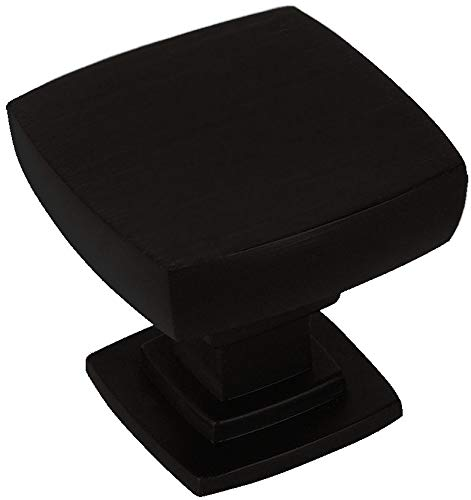 10 Pack - Cosmas 5232FB Flat Black Contemporary Square Cabinet Knob