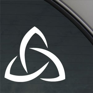 (Trinity Sign Religious Decal God Truck Window)