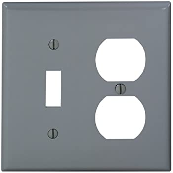 leviton 80705gy 2gang 1toggle 1duplex device combination wallplate