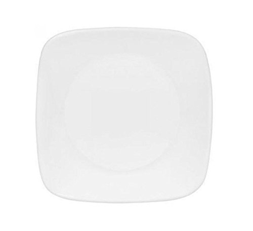 Corelle Square Round 6-1/2-inch Plate, Pure White, Value Pack Of 6