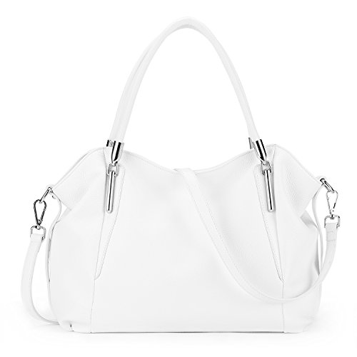White Leather Handbags - 4