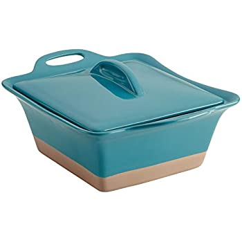 Rachael Ray Collection Stoneware Square Casserole, 2.5-Quart, Turquoise - 47148