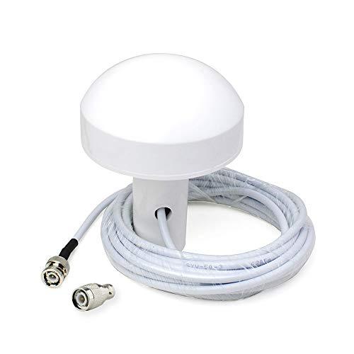 (Bingfu Boat Ship Marine GPS Navigation Waterproof External Antenna (5m Cable) Compatible with Garmin GPSMAP MAP NavTalk StreetPilot Furuno Matsutec GPS Modem Receiver Transducer Fishfinder Sounder )