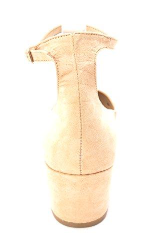 Frauen Zeh Riemen Chinese Pumps Laundry Knoechel Wildleder Geschlossener Sand Klassische qSwSFxU5t