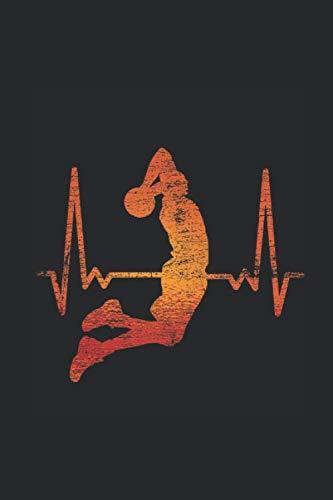 Dunk Heartbeat: Basketball Notebook, Graph Paper (6