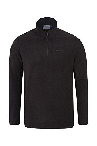 - Mountain Warehouse Mens Camber Fleece Pullover - Half Zip Sweater Black Large