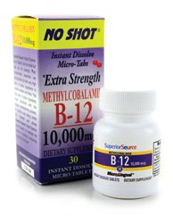 Superior Source No Shot Methylcobalamin Vitamin B12 Tablets,