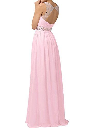 Rosa Lang Hell La Pink A Chiffon Braut Rock Damen Marie Abendkleider Linie Brautjungfernkleider Promkleider wppfqI