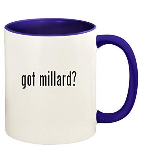 got millard? - 11oz Ceramic Colored Handle and Inside Coffee Mug Cup, Deep Purple