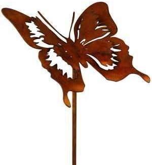 Rost Tier Schmetterling Filigran 52 Cm Stecker Deko Dekoration