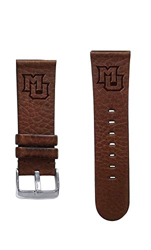 (Affinity Bands Marquette University Golden Eagles 20mm Premium Leather Watch Band - 2 Lengths - 3 Leather Colors - Officially Licensed)