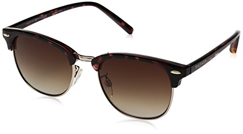 Tommy Hilfiger Women's Lad163 66396734 Round Sunglasses, Tortoise Light Gold/Brown Gradient, 52 - Sunglasses Hilfiger