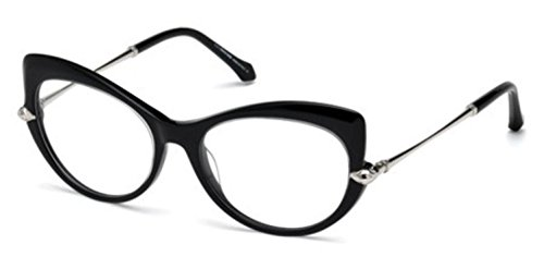 (Roberto Cavalli RC5021 Eyeglass Frames - Shiny Black Frame, 54 mm Lens Diameter RC502154001)