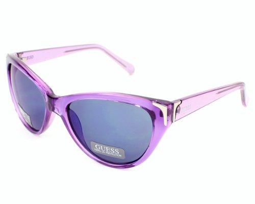 Guess sunglasses GU7323 PUR-9F Acetate Transparent Purple Grey - Guess Sunglasses Purple