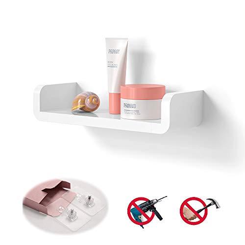 Laigoo Floating Shelf Wall Mounted Non-Drilling, U Adhesive Bathroom Organizer Display Picture Ledge Shelf for Home…