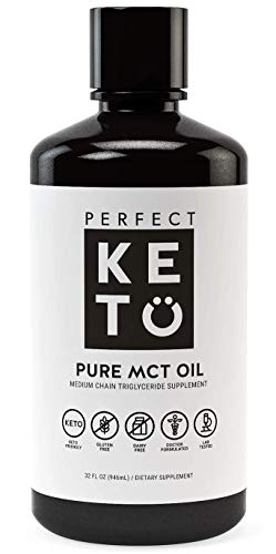 Perfect Keto Rapid Energy Pure MCT Oil: Ketogenic Coconut Oil Supplement. 100% Pure MCT Oil | Ketones Best as Ketogenic Diet Supplement (C8/C10, 32 oz) (Hormonal Support Concentrated)