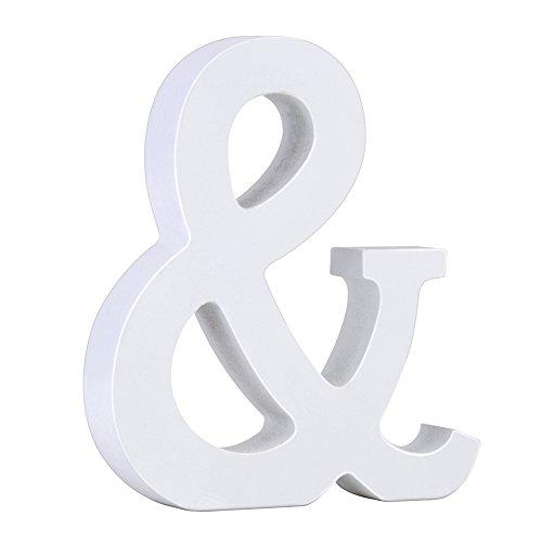 Holz Buchstaben 1 von A-Z DIY Malen Dekorationen für Hochzeit Geburtstag Feier Deko