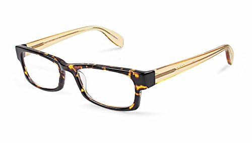 Scojo New York SANDS St. Reading Glasses +1.75 (Brown Tort/Soft Yellow) (Scojo Readers Crystal)