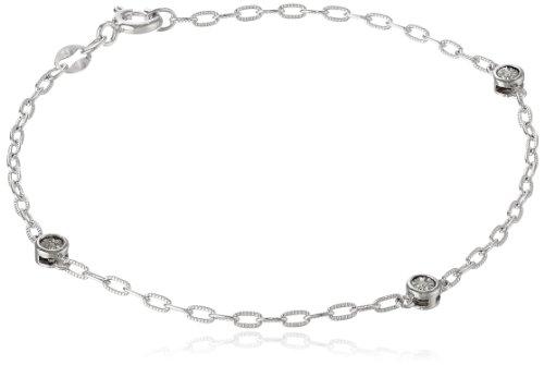 Sterling Silver White Diamond-Accent Bracelet, 7.5