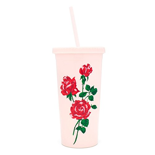 ban.do Sip with Straw Will You Accept This Rose Tumbler, -