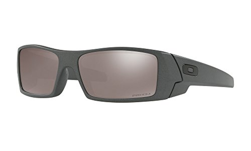 Oakley Gascan Sunglasses Steel with Prizm Black Polarized Lens + - Customized Oakley Sunglasses