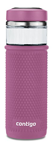 Contigo 2039252 Glass Water Bottle with a Quick-Twist Lid, 2