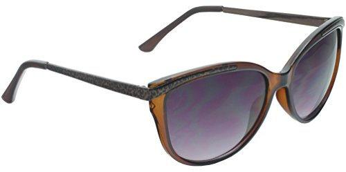 True Gear iShield Beautiful Large Cat Eye Sunglasses with Metal Leopard Brown and Temples (Brown - Sunglasses Prescription Cheap Oakley