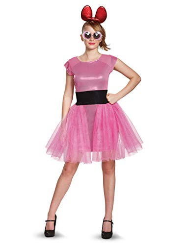 Powerpuff Halloween Costumes (Disguise Women's Blossom Deluxe Adult Costume, Pink,)